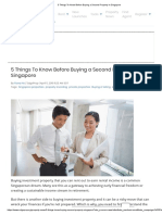 5 Things to Know Before Buying a Second Property in Singapore