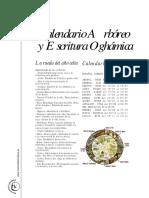 Calendario y escritura arborico ogamica