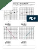 Algebra Hallar Pendiente Intercepto-y Intercepto-x Ecuacion Del Grafico 001