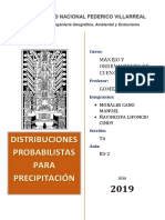 Distribuciones Probabilistas Para Precipitación