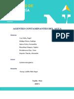 Agentes Contaminantes Del Agua
