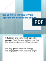 The 20 Rules of Subject Verb Agreement In