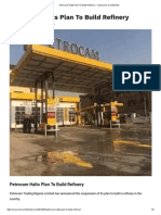 Petrocam Halts Plan to Build Refinery — Economic Confidential