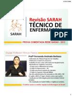 Prova Tecnico Enfermagem Sarah2012
