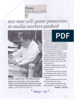 Manila Times, July 18, 2019, Bill that will grant protection to media workers pushed.pdf