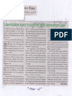 Manila Times, July 18, 2019, Lawmaker eyes tougher anti-terrorism law.pdf