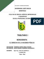 Monografia Derecho de Hacienda