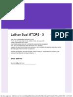 Latihan Soal MTCRE - 3