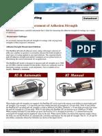 Measurement of Adhesion Strength
