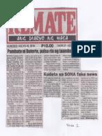 Remate, July 18, 2019, Pambato ni Duterte, pulso rin ng taumbayan, Kudeta sa Sona fake news.pdf