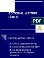 Editorial Writing Basic