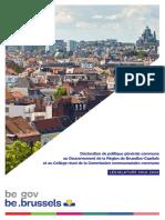 Région de Bruxelles-Capitale | Législature 2019-2024
