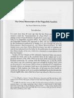 ARLO GRIFFITH The Orissa Manuscripts of the Paippalada Samhita