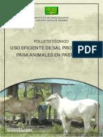 USO EFICIENTE DE SALES PROTEINADAS PARA GANADO EN PASTOREO
