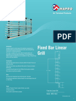 01 Fixed Bar Linear Grill