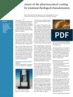 Rheology of coating Solutions