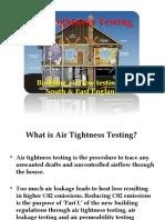 Air Tightness Testing