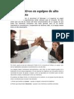 Roles Positivos en Equipos de Alto Rendimiento