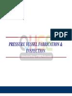 Pressure Vessel Fabrication Inspection