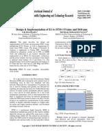 Design & Implementation of E1 to STM-1