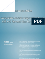 CSR of ONGC