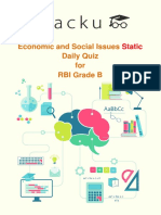 Quiz on Economic and Social Issues (Static)for RBI 18-04-2018- PDF