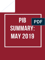 PIBSummary May2019 Cover