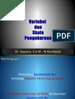 Variabel & Skala Pengukuran