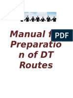 Manual to Make DT Routes