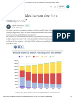 What is the Ideal Screen Size for a Smartphone