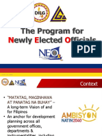 Framework on Newly Elected Officials Program