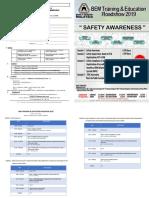 Safety Awareness Roadshow 2019 Brochure