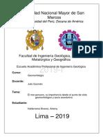 El Mar Peruano, Su Importancia Desde El Punto de Vista Geomorfológico y Socio Económico.