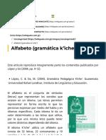Alfabeto (gramática kiche)