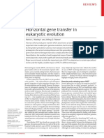 Horizontal Gene Transfer in Eukaryotic Evolution - Nature Reviews Genetics - 2008