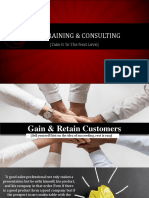 Gain & Retain Customers by GEM Training & Consulting