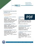 Marketing ISI Journals