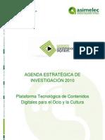 Agenda Estratégica de Investigación de la Plataforma Tecnológica de Contenidos Digitales