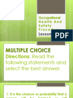Occupational Health and Safety Procedures LQ