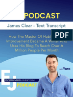 James Clear EJ podcast taranscript