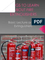 Things to Learn About Fire Extinguishers