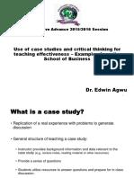 Use of case studies