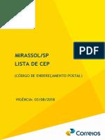 CEP's atualizados Mirassol/SP