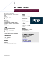German Standard Evening Courses