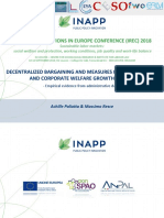 Decentralized Bargaining and Measures for Productivity and Corporate Welfare Growth in Italy