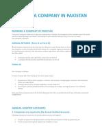 Coy Accounts, Forms, Audit Etc