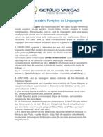 Exercícios Sobre Funções Da Linguagem