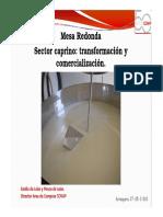 Sector Caprino_ transformación y comercialización