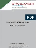 Mainstorming 2019 Polity Governance Www.iasparliament.com