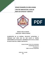 ELABORACIÓN DE UN MATERIAL EDUCATIVO NUTRICIONAL A PERSONAS QUE VIVEN CON VIH, SANTA CRUZ DE LA SIERRA, GESTIÓN 2014.doc